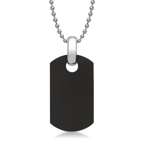 Privesok ''Dog tag'' čierny 1