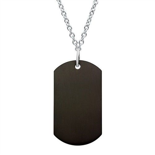 Privesok ''Dog tag'' čierny